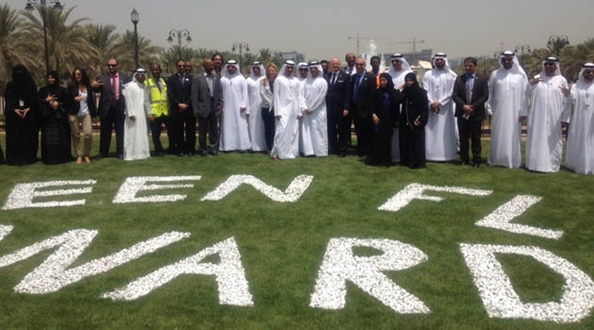 Green Flag Awards flying for the first time in Abu Dhabi