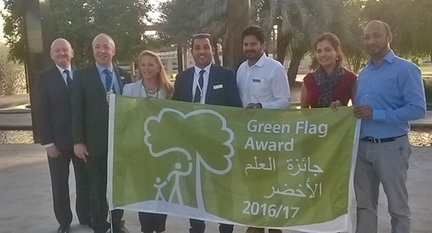 Park at the heart of the community in Abu Dhabi has been awarded the Green Flag Award