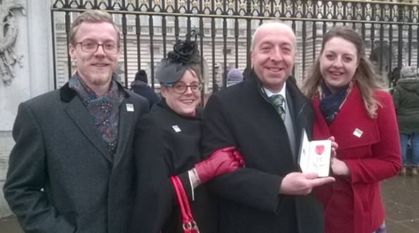 Green Flag Award Judge visits Buckingham Palace to collect his MBE